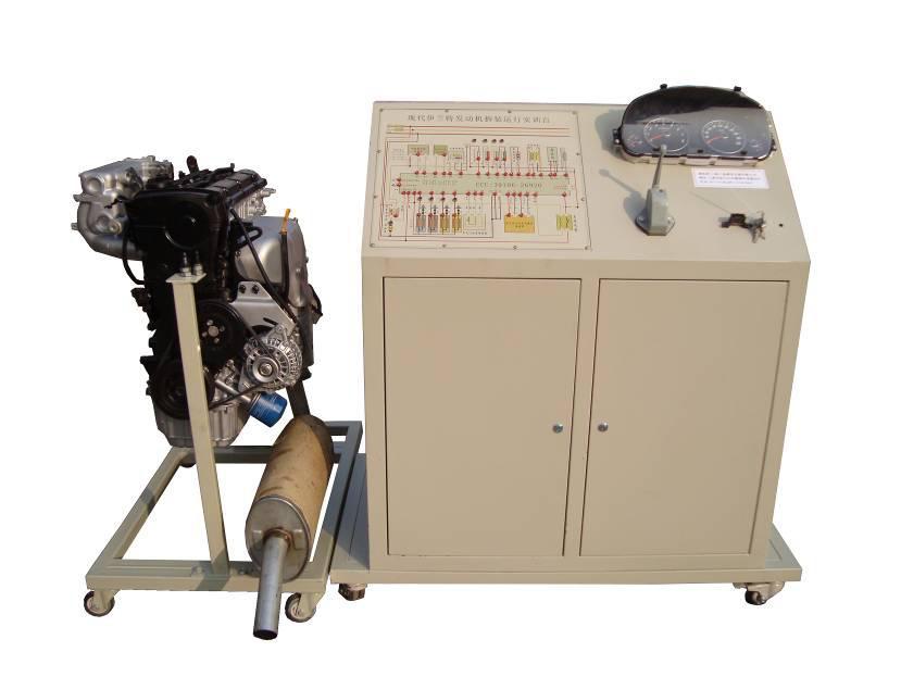 一.产品简介 本实训台以丰田1NZ-FE带VVT原厂电喷汽油发动机为基础,发动机可拆装及运行,进行起动、加速、减速、故障检测与诊断、故障模拟与排除等工况的实际操作,真实展示汽车电喷汽油发动机结构与原理及工作过程。适用于各类型院校及培训机构对汽车发动机理论和维修实训的拆装与检测实训教学需要。 本实训台实训功能齐全、操作方便、安全可靠、美观大方。 二.主要用途   1.适用于各类型院校及培训机构对汽车发动机理论和拆装维修检测实训的实训教学需要。 2.适用于各类型院校及培训机构对汽车发动机模块各单元教学需要。
