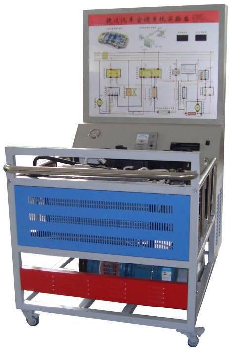 (二)捷达汽车空调结构组成     三相调速电动机,空调蒸发箱,压缩泵
