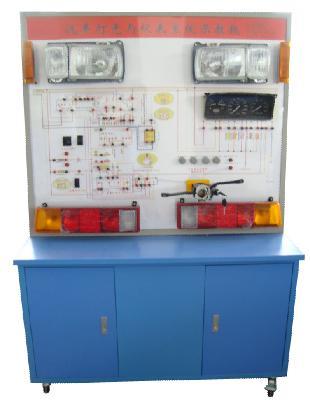 面板上绘有完整的灯光与仪表系统的电路图,设置有检测端子,可通过仪器