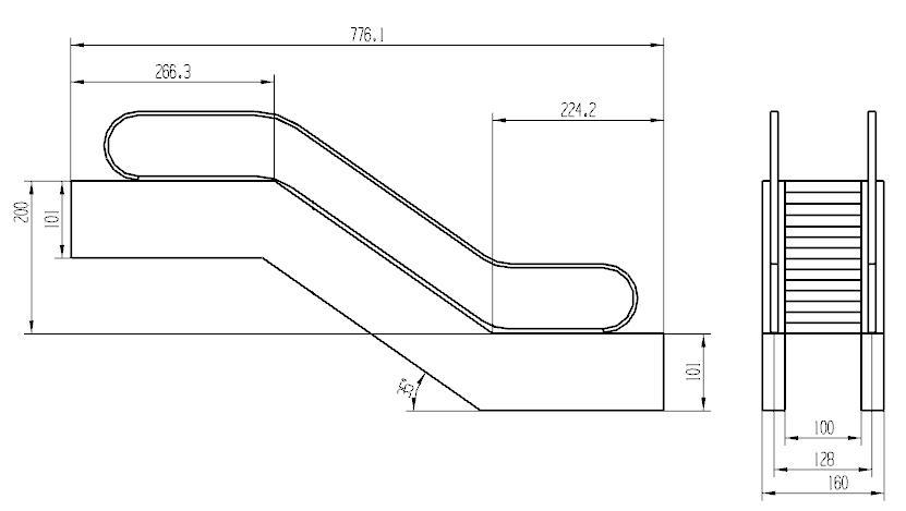 手扶梯内部结构图
