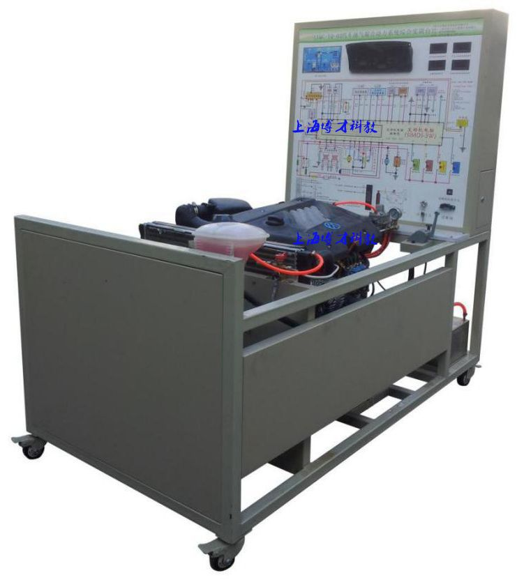 实训台面板上安装有检测端子,可直接在面板上检测各继电器,电磁阀