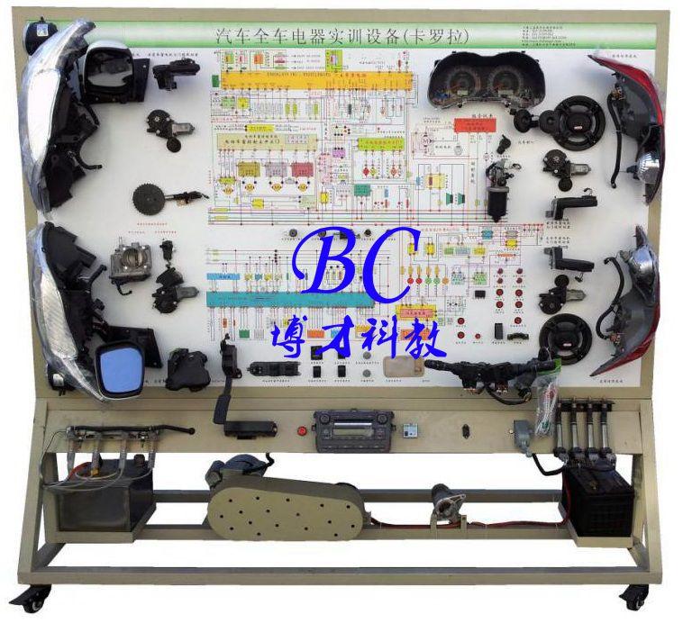 三,丰田卡罗拉全车电器实训台结构组成 舒适系统,灯光系统,防盗仪表